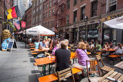Stone Street New York City Royalty Free Stock Photos
