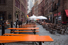 Stone Street New York City Royalty Free Stock Image