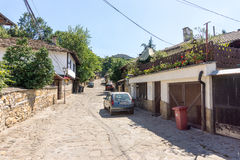 Stone street in Old Lovech, Bulgaria royalty free stock photos