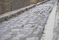Stone street in pompeii Royalty Free Stock Image