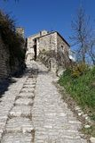 Stone street in the Provence village of Gordes. An old stone street in the Provence village of Gordes Stock Photos
