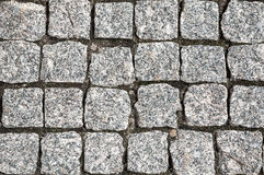 Stone street road pavement texture Royalty Free Stock Photos