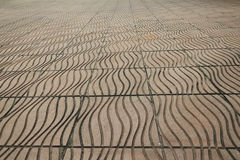 Stone street road. pavement texture, viewed from front Stock Photography