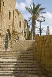 Stone street and staircases  of Old Jaffa Stock Images