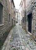 Stone Street. Trogir. Stone street in the old city centre of Trogir, Croatia Royalty Free Stock Photo