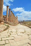 Stone Streets. Ancient ruins of Jerash, Jordan stock photo