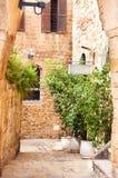 Stone streets of ancient Tel Avi Stock Photography