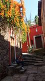 Stone streets. Guanajuato capital mexico Stock Photography