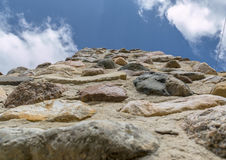Stone structure. View up the stone structure Royalty Free Stock Photos