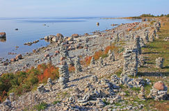 Stone structures in Saaremaa, Estonia Stock Photos