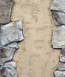 Stone with Stucco Decorated Wall. Royalty Free Stock Photography
