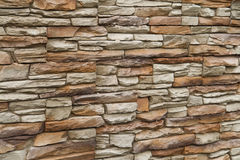 Stone stucco wall. Brown shades color decorative design uneven stone stucco wall Stock Image