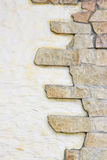 Stone and stucco wall Royalty Free Stock Photos