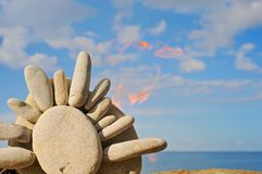Stone Sun Royalty Free Stock Image