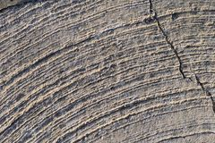 Stone surface with arc scratches. Full frame Royalty Free Stock Photos