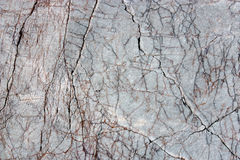 Stone surface. Close-up of intricate texture of stone with cracks and veins Stock Photo