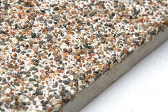 Stone Surface With Marble Chips View Off The Edges Of Slab Stock Image