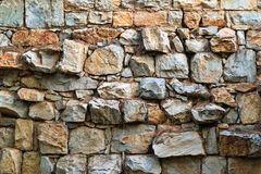 Stone surface of an old wall Stock Image