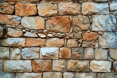 Stone surface of an old wall Stock Photography
