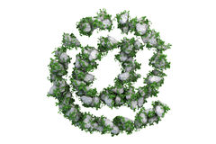Stone symbol covered with ivy, isolated Stock Photography