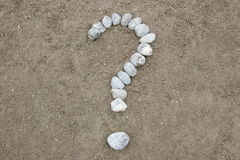 Stone Symbol Question Mark Royalty Free Stock Photo
