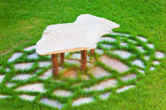 Stone Table Royalty Free Stock Photos