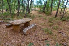 Stone table Royalty Free Stock Photos