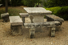 Stone table. Ancient stone table from the old monastery stock photos