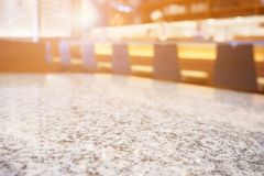 Stone table. In japanese restaurant stock photography