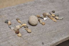The stone in the table Text Royalty Free Stock Photos