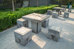 Stone Tables Royalty Free Stock Photography