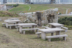 Stone tables. Stock Image