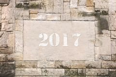 Stone tablet in 2017 Royalty Free Stock Photo