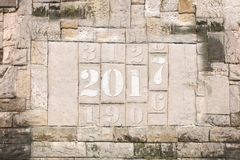 Stone tablet in 2017 - 2 Stock Images