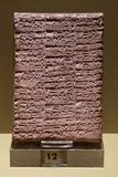Stone tablets with cuneiform writing. Stock Images
