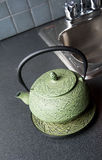 Stone tea kettle Royalty Free Stock Photo