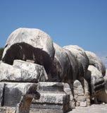 Stone Temple of Apollo Didim Stock Images