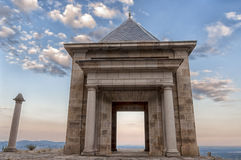 Stone temple - Horizontal. Stone temple at the top of the mountain - Horizontal Royalty Free Stock Photos