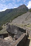 Early morning before the crowds arrive. A stone terraced area at Machu Picchu has endured the test of time Royalty Free Stock Image