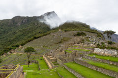 Stone terraces in the lost Inca city Stock Images