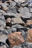 Stone texture. Civil building basement Stock Photos