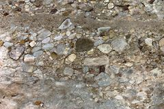 Stone texture. Karstic conglomerate texture stock images