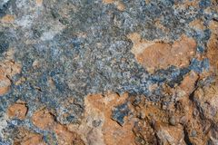 Stone texture. Blue and orange stone texture. Suitable for backgrounds, textures, etc Stock Image