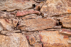 Stone texture. clif in Spain Mediterranean.  Stock Photography
