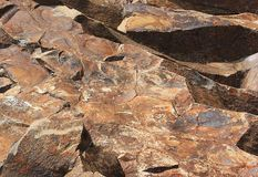 Stone texture closeup background. Rock background - details of structure Stock Photos