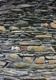 Stone texture closeup background. Old wall made of many piled stones Royalty Free Stock Images