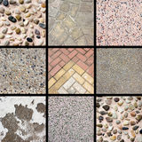 Stone texture collage Royalty Free Stock Photo