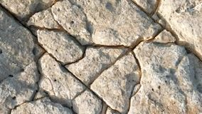 Stone texture outdoor. In the garden stock video footage