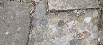 Stone texture from a pathway stock photo