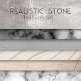 Stone Texture Samples Realistic Set Stock Photo